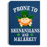 St. Patrick's Day Prone To Shenanigans And Malarkey Dabbing Portrait Canvas