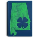 St. Patrick's Day Shamrock Alabama Irish Green Saint Paddy's Portrait Canvas