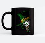 St. Patrick's Evil Clown Leprechaun For Horror Movie Fans Black Mugs