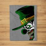 St. Patrick's Evil Clown Leprechaun For Horror Movie Fans Fleece Blanket