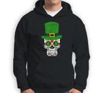 Sugar Skull St Patrick's Day Irish Day of the Dead Sweatshirt & Hoodie