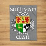 Sullivan Family Crest Coat of Arms Fleece Blanket