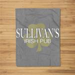 Sullivan's Irish Pub Vintage Irish Fleece Blanket