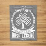 Sweeney original irish legend st patricks day Fleece Blanket