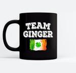 Team Ginger Shamrock St Patricks Day Ireland Flag Irish Gift Black Mugs