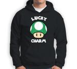 Super Mario St. Patty's Lucky Charm Mushroom Graphic Sweatshirt & Hoodie