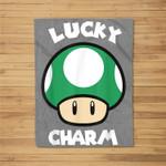 Super Mario St. Patty's Lucky Charm Mushroom Graphic Fleece Blanket