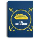 The Implication Black Boat Portrait Canvas