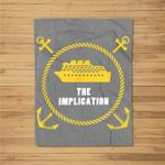 The Implication Black Boat Fleece Blanket