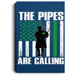 The Pipes Are Calling St Patricks Day Gift Irish Bagpipe Portrait Canvas
