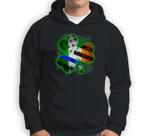 Thin Blue Line American Flag Irish Shamrock Police Sweatshirt & Hoodie