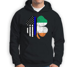 Thin Blue Line Flag Irish American St. Patrick's Day Sweatshirt & Hoodie