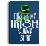 This Is My Irish Pajama, Shamrock Green-Clover Boy Girl Portrait Canvas