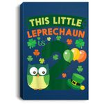 This Leprechaun Is 2 Year Old Birthday St Patricks Day Portrait Canvas