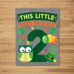 This Leprechaun Is 2 Year Old Birthday St Patricks Day Fleece Blanket