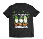 Three Gnomes St. Patrick�s Day 2021 Gift Cute Gnomies T-Shirt