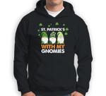Three Gnomes St. Patrick�s Day 2021 Gift Cute Gnomies Sweatshirt & Hoodie