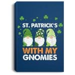 Three Gnomes St. Patrick�s Day 2021 Gift Cute Gnomies Portrait Bed Room/ Living room Wall Art