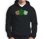 Three Heart Shamrocks Leopard Plaid St Patrick's Day Gift Sweatshirt & Hoodie