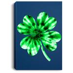 Tie Dye Shamrock St Patricks Day Women Men Green Fun Portrait Canvas
