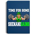 Time For Some Shenanigains Lifting Leprechaun St Patrick Day Portrait Canvas