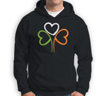 3 Hearts Shamrock Ireland Flag St Patrick's Day Men Women Baseball Sweatshirt & Hoodie