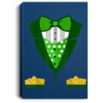 Toddler Boys Irish Tuxedo Bow-Tie Leprechaun Costume Portrait Canvas