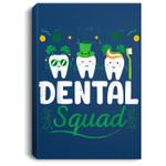 Tooth Leprechaun Hat Dental Squad Dentist St Patrick's Day Portrait Canvas