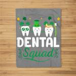 Tooth Leprechaun Hat Dental Squad Dentist St Patrick's Day Fleece Blanket