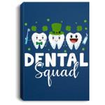 Tooth Leprechaun Hat Dental Squad St Patrick's Day Portrait Canvas