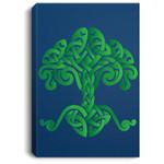 Tree of life - Celtic knotwork design Portrait Canvas
