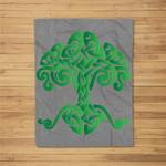 Tree of life - Celtic knotwork design Fleece Blanket
