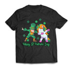 Unicorn St Patricks Day Kids Toddler Girl Leprechaun T-Shirt