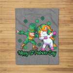 Unicorn St Patricks Day Kids Toddler Girl Leprechaun Fleece Blanket