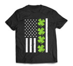 US America Flag Shamrock Clover St Patricks Day Patriot Gift T-Shirt