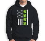US America Flag Shamrock Clover St Patricks Day Patriot Gift Sweatshirt & Hoodie