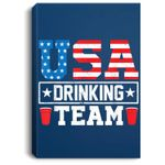 USA Drinking Team Funny Drinking Beer Lover Gift Portrait Canvas