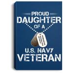 Veteran's Daughter US Navy Proud , U.S. Navy Portrait Canvas