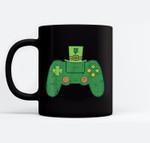 Video Game Controller Irish Gamer Boys St Patricks Day Men Black Mugs