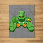 Video Game Gaming St Patricks Day Gamer Boys St. Patty's Day Fleece Blanket