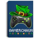 Video Game Leprechaun Costume St Patrick's Day Irish Boy Kid Portrait Canvas
