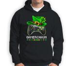 Video Game Leprechaun St Patricks Day Gamer Kids Boys Gaming Sweatshirt & Hoodie