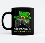 Video Game Leprechaun St Patricks Day Gamer Kids Boys Gaming Black Mugs
