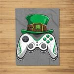 Video Game Leprechaun St. Patrick's Day Gifts Men Boy Fleece Blanket