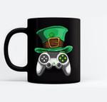 Video Gamer Controller Leprechaun Hat St. Patricks Day Boys Black Mugs