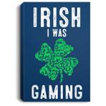 Video Gamer Saint Patricks Day Gaming Lucky Gamer For Boys Portrait Canvas