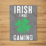 Video Gamer Saint Patricks Day Gaming Lucky Gamer For Boys Fleece Blanket