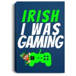 Video Gamer Saint Patricks Day Gaming St Pattys Day For Boys Portrait Canvas