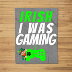 Video Gamer Saint Patricks Day Gaming St Pattys Day For Boys Fleece Blanket