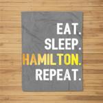 Vintage Alexander Hamilton gifts Fleece Blanket